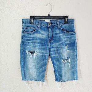 Current Elliot Boyfriend Cutoff Distressed Shorts